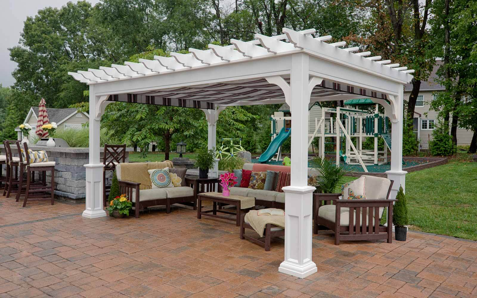 Traditional Vinyl Pergolas | River View Outdoor Products