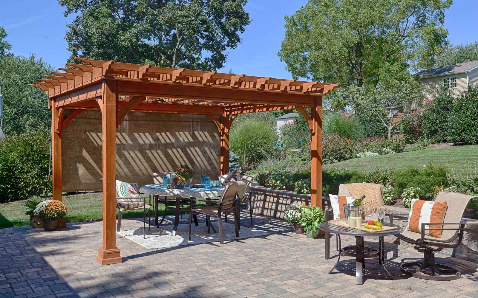 Traditional Wood Pergolas River View Outdoor Products