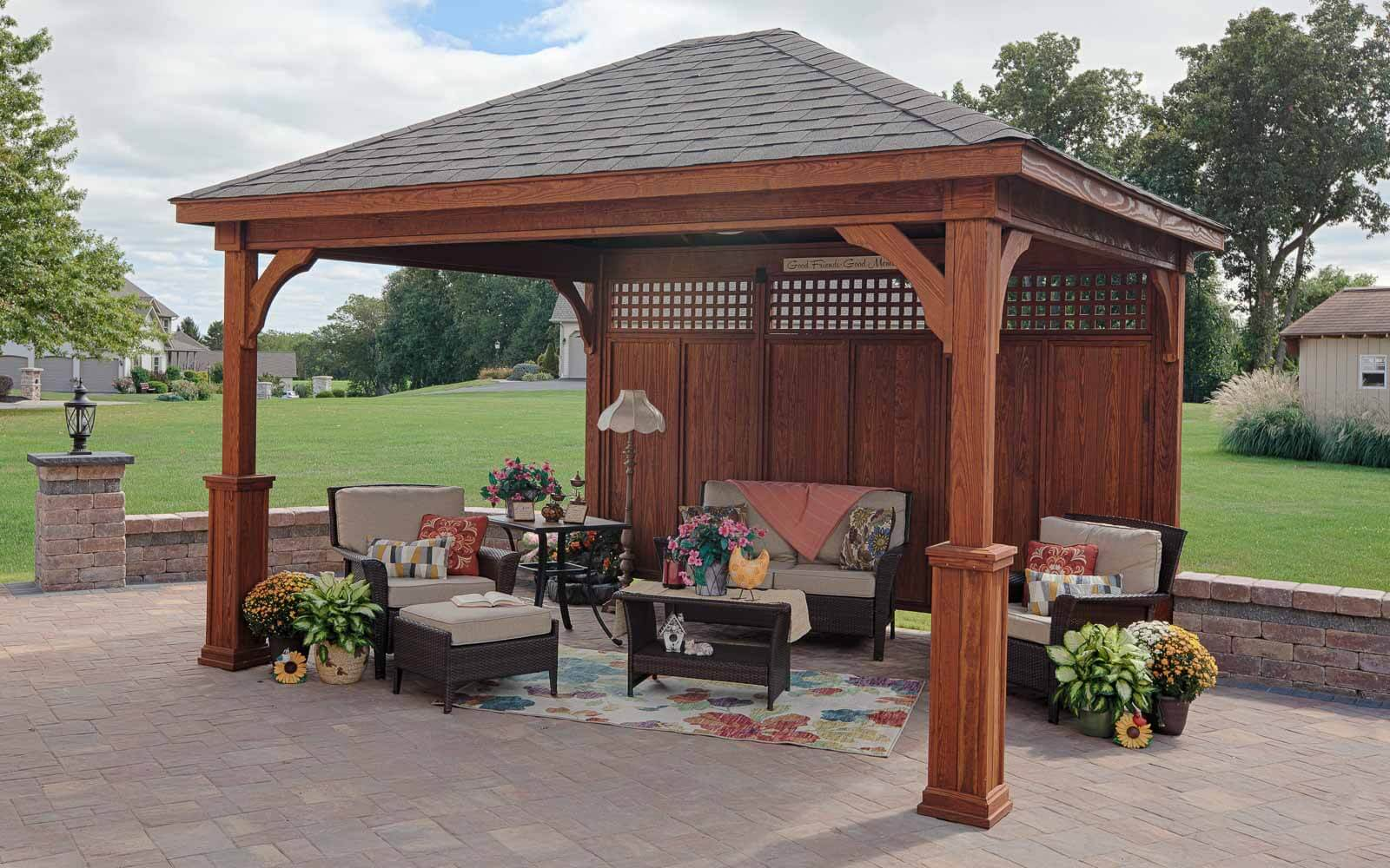 Traditional Wood Pavilions River View Outdoor Products