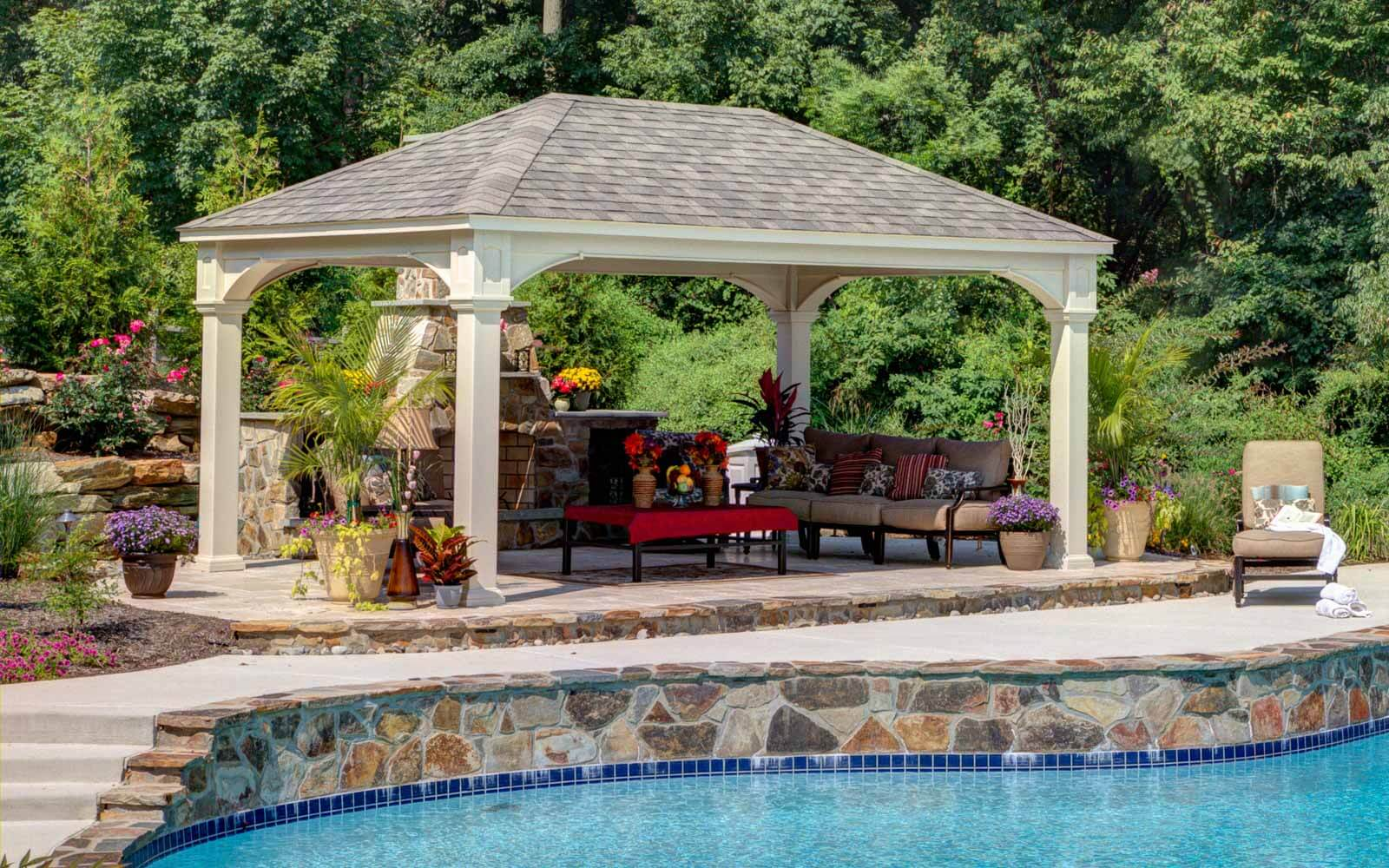 Traditional Vinyl Pavilions River View Outdoor Products