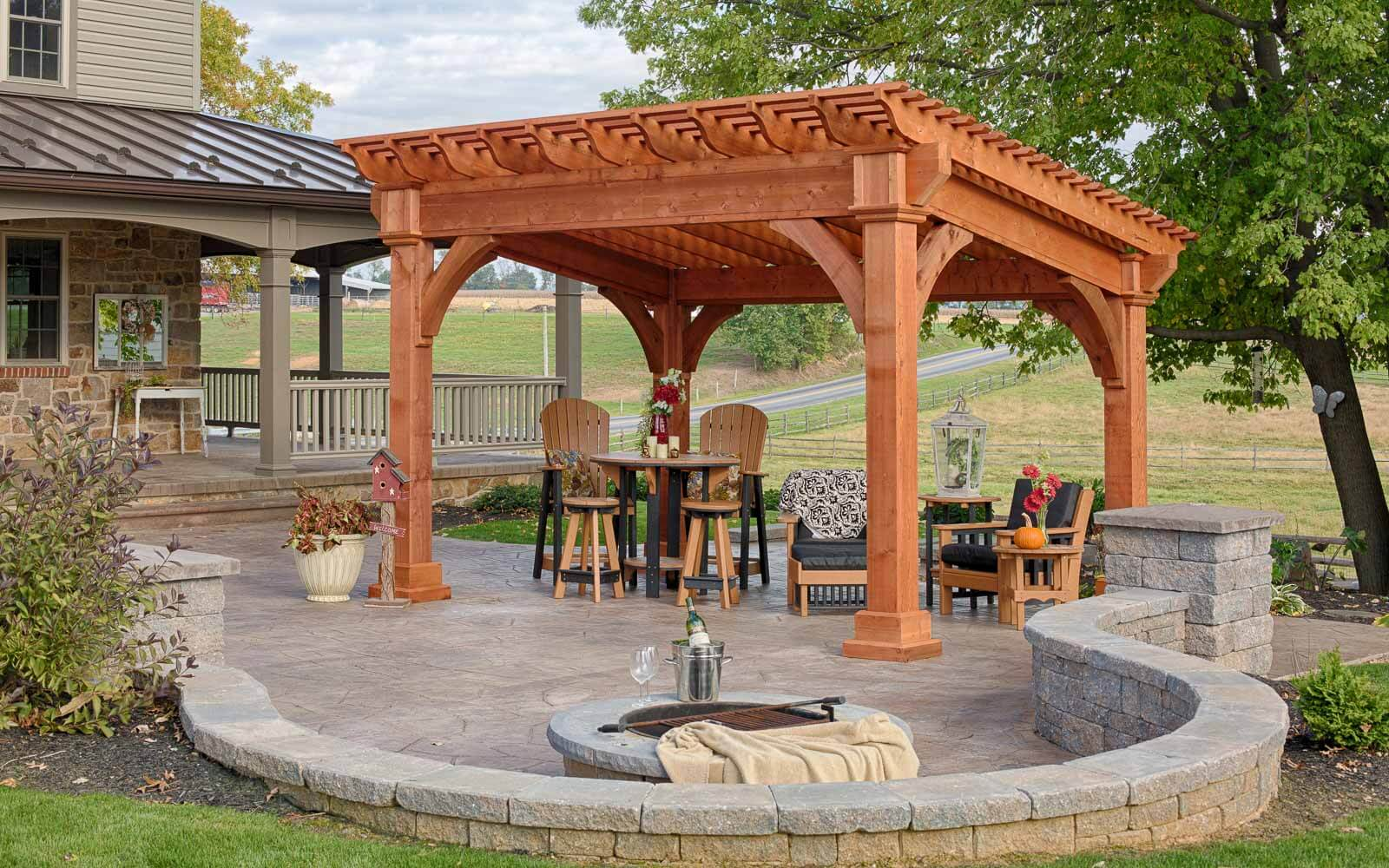 Cape Code House Plans Santa Fe Pergolas River View Outdoor Products