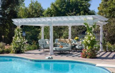 14x20' Artisan White Vinyl Pergola with 10