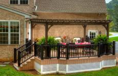 10x16' Traditional Wood Pergola in Cinder Stain