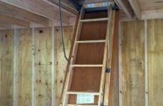 Ladder to go to second story of shed