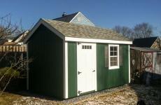 Wooden A-Frame style Storage Shed with one door and one window