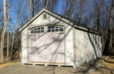 Wooden cape cod garage with gable vents