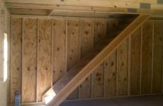 Steps to go to second story of shed