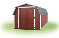 Red Wooden Mini Barn with double doors