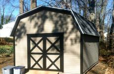 Wooden mini barn storage shed