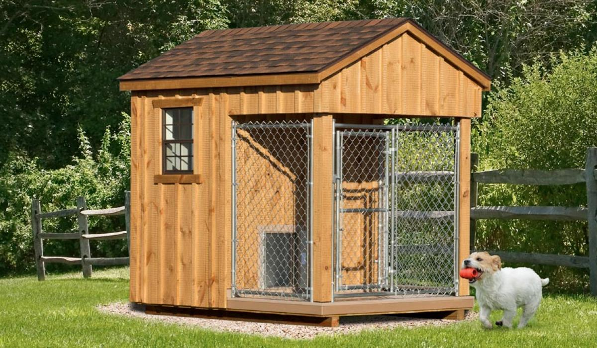 6'x8' traditional dog kennel