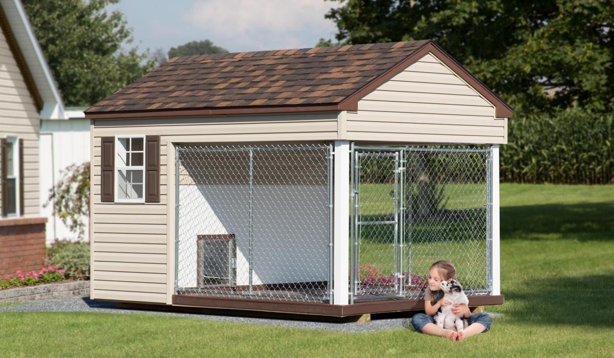 8'x10' traditional dog kennel