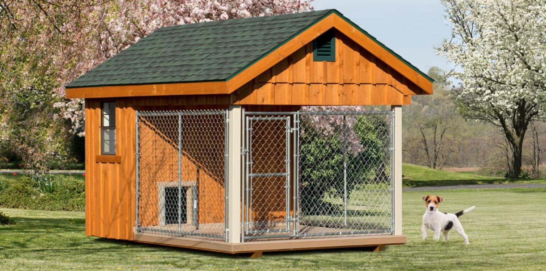 8' x 12' Elite dog kennel