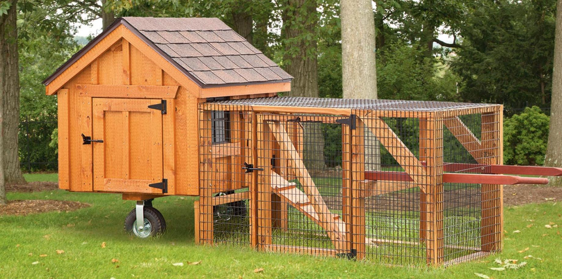 3'x3' A frame tractor style chicken house