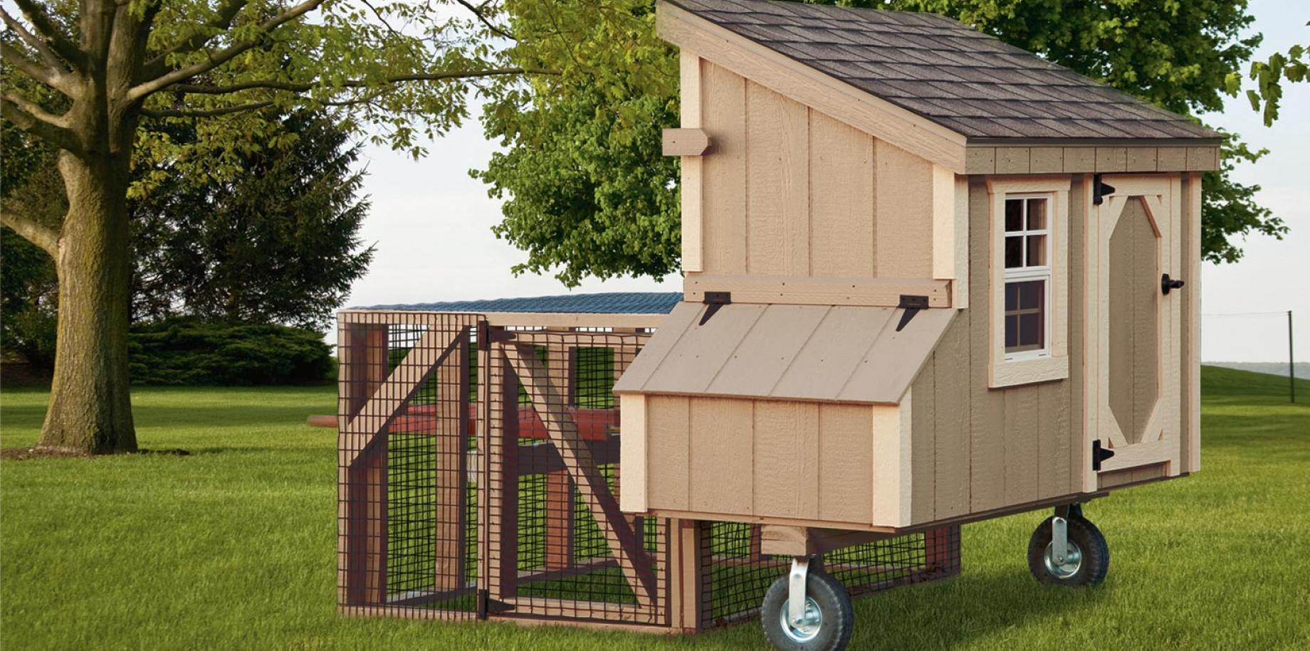 3'x5' lean to tractor chicken house