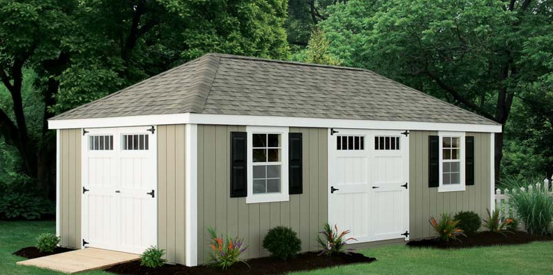 Hip roof shed