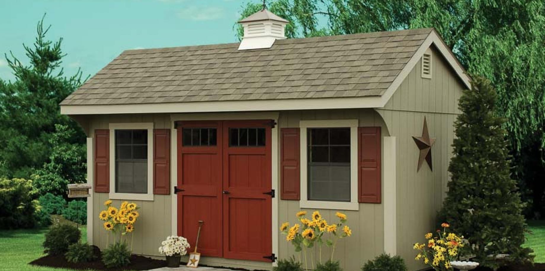 Wood And Vinyl Storage Sheds River View Outdoor Products