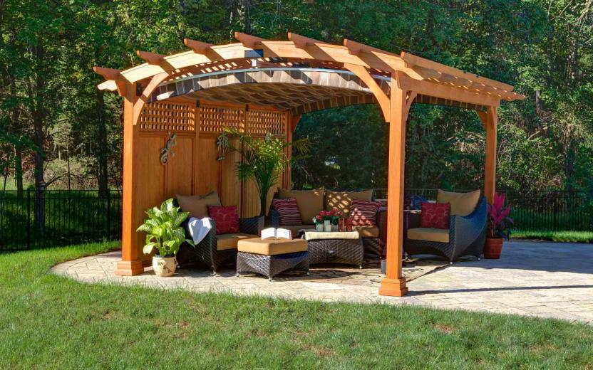 Arched Hearthside Pergolas River View Outdoor Products