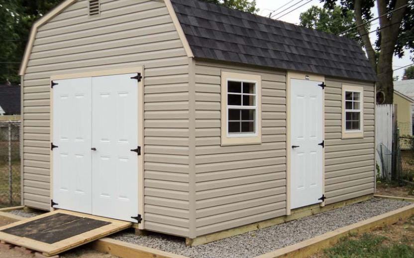 Vinyl Dutch Barn style Storage Shed with wooden r& & Dutch Barns | River View Outdoor Products