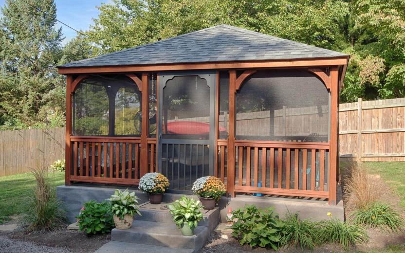 Rectangular Dutch Style Wood Gazebo