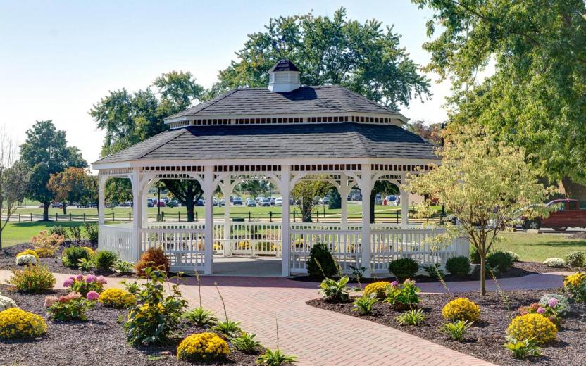 Oval White Vinyl Gazebo