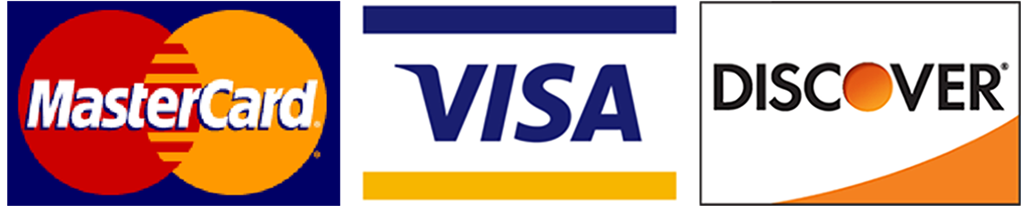 The credit cards accepted at River View Outdoors are Vise, MasterCard and Discover.
